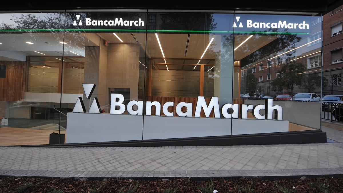 Sede y logo de Banca March