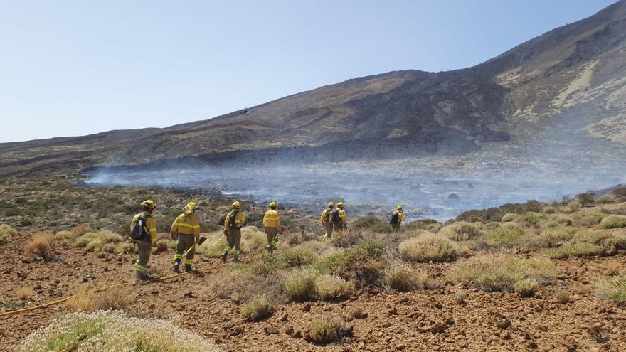 Estabilizado el incendio en el Teide