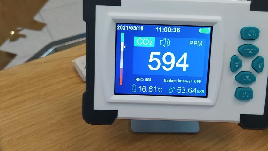 Así son los medidores de CO2 que el Principado recomienda implantar en en hostelería, academias y gimnasios