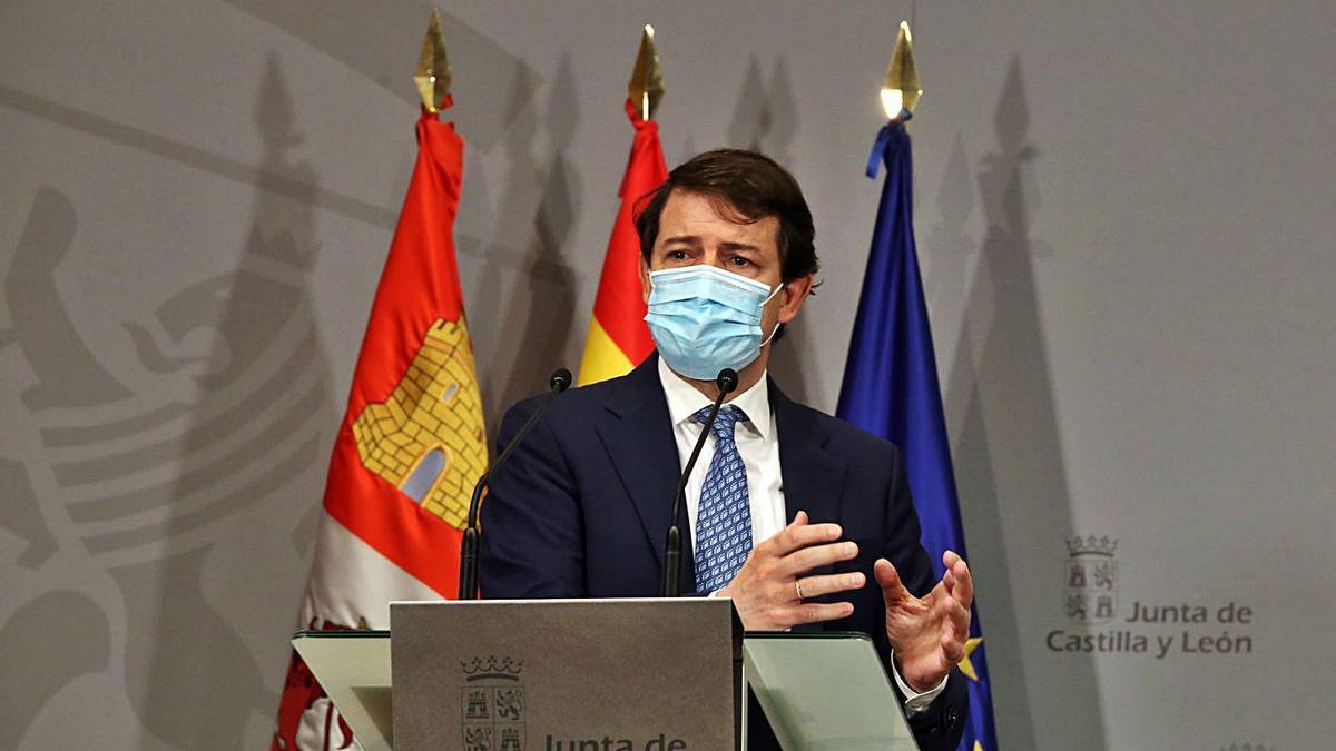 Fernández Mañueco, durante una rueda de prensa el pasado día 11 de marzo. | R. Cacho - Ical