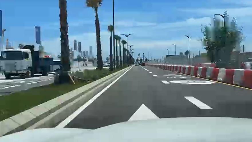 Abre al tráfico la avenida Moliere de Málaga capital