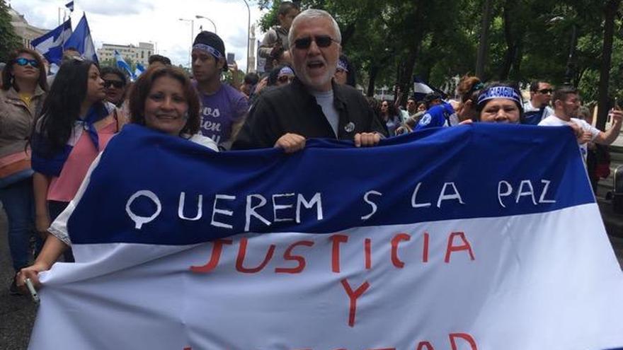 Protesta valenciana contra la represión en Nicaragua