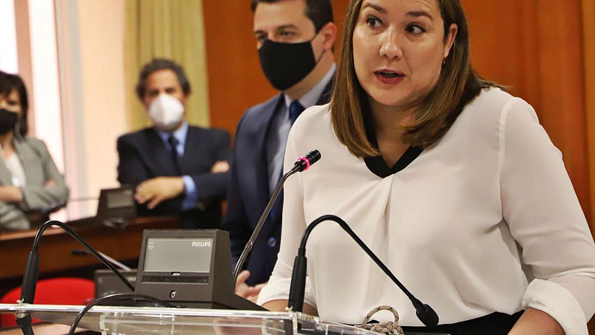 María Luisa Gómez, en su presentación como futura delegada de Casco y edil independiente de Cs.   FRANCISCO GONZÁLEZ
