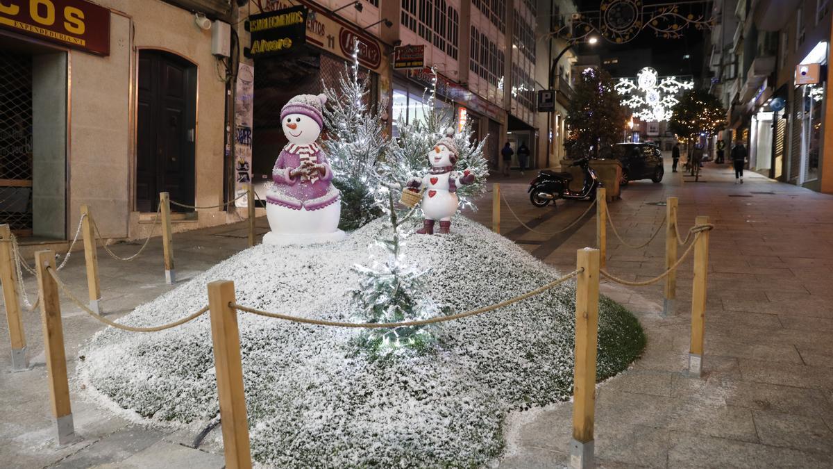 Luces de Navidad en Vigo. (Foto: Ricardo Grobas)