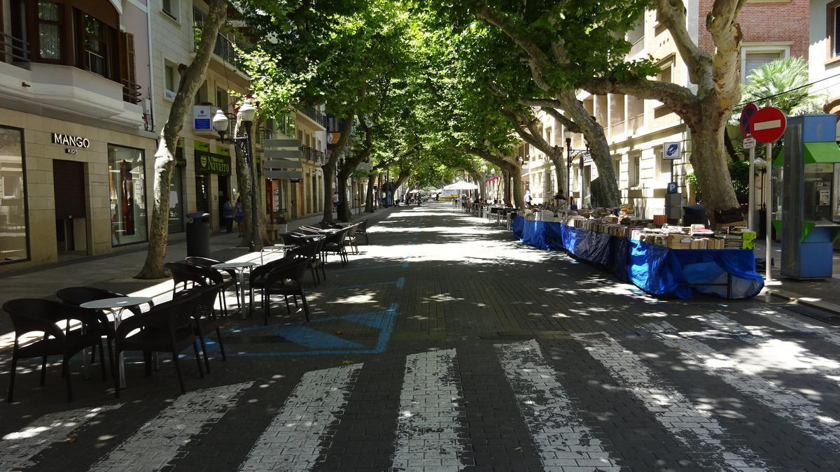 La calle Marqués de Campo, ahora peatonal