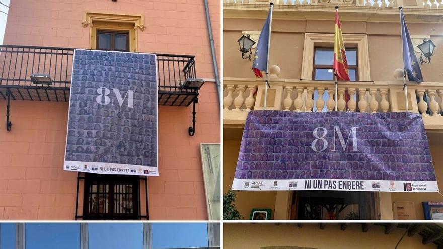 El Carraixet crea cuatro carteles por el 8M con las caras de mil vecinos