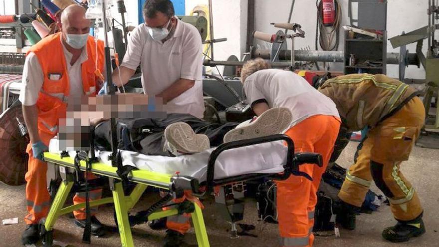 Un hombre resulta herido en un accidente laboral en Alcoy