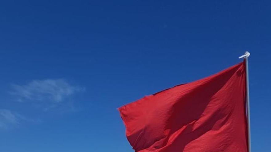 Bandera roja en Mil Palmeras por una picadura de carabela portuguesa
