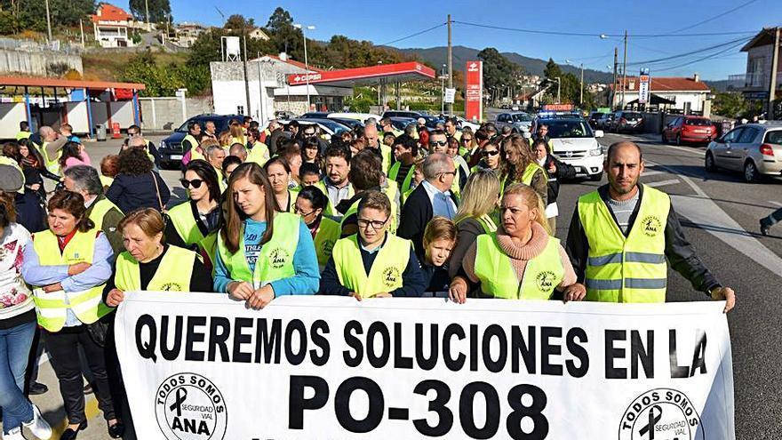 La Xunta aprueba la mejora de la seguridad vial en la PO-308