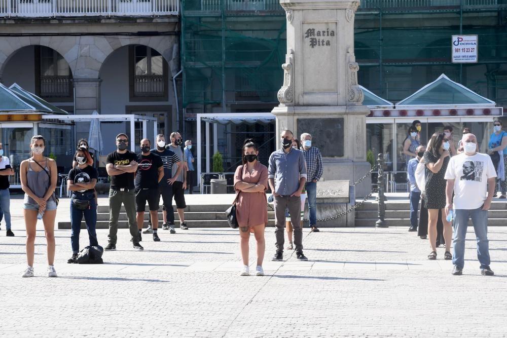 Nueva concentración del sector hostelero en A Coruña
