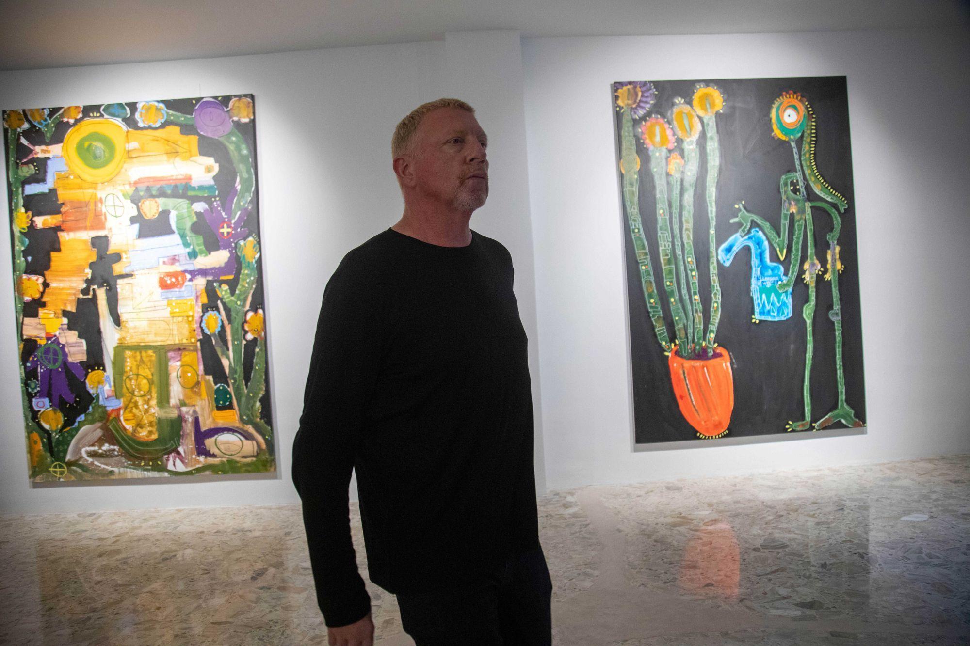 Boris Becker bei der Ausstellungseröffnung von Noah Becker in Palma de Mallorca