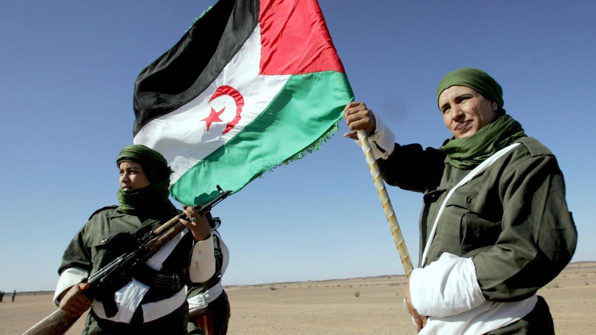 Miembros del Frente Polisario.