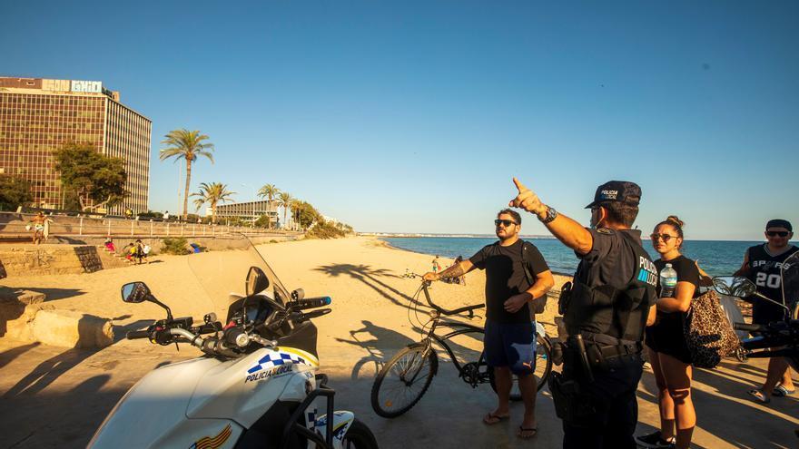 La Policía de Palma volverá a cerrar las playas el día 23 para impedir la celebración de Sant Joan