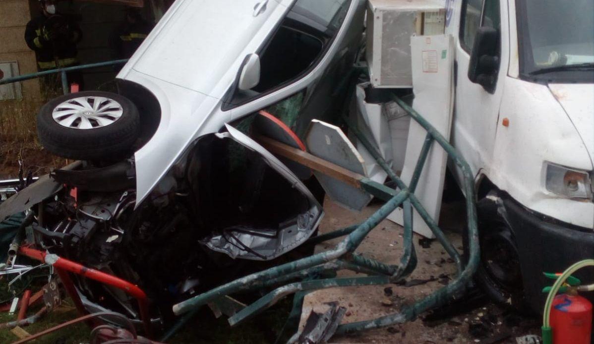 Aparatoso accidente en Las Palmas de Gran Canaria