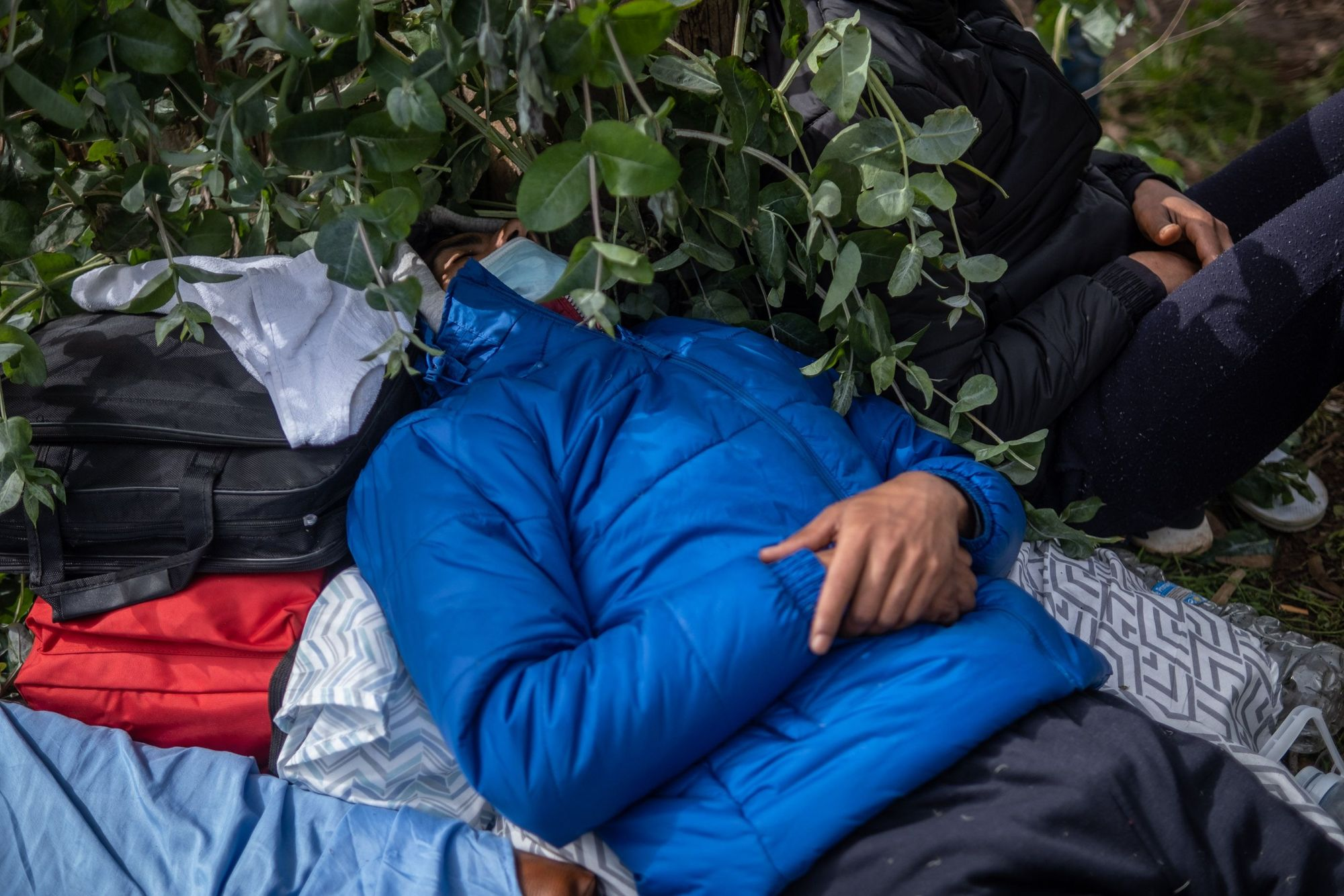 Protestas de los inmigrantes en Las Raíces