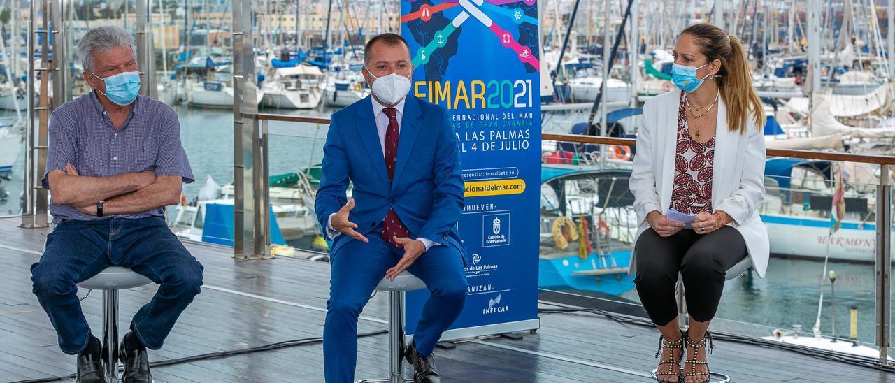 Presentación de Fimar en Marina Las Palmas, este martes.