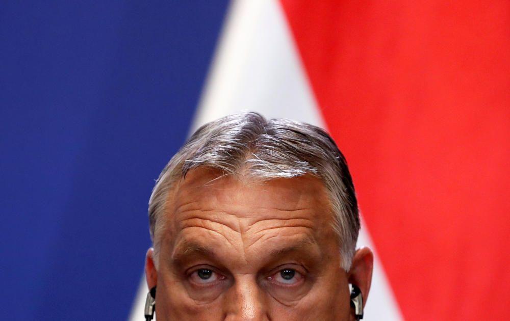 Hungary's PM Orban and Slovakia's PM Matovic ...