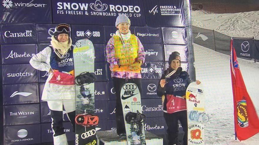 Queralt Castellet, medalla de bronce en la Copa del Mundo de snowboard