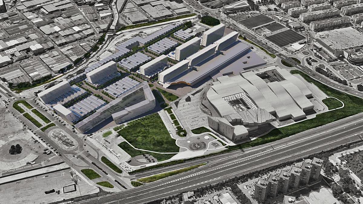 Imagen del proyecto que plantea un uso mixto de la zona.   L.O.