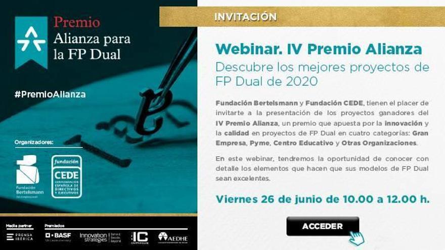 Conoce a los ganadores del IV Premio Alianza para la FP Dual