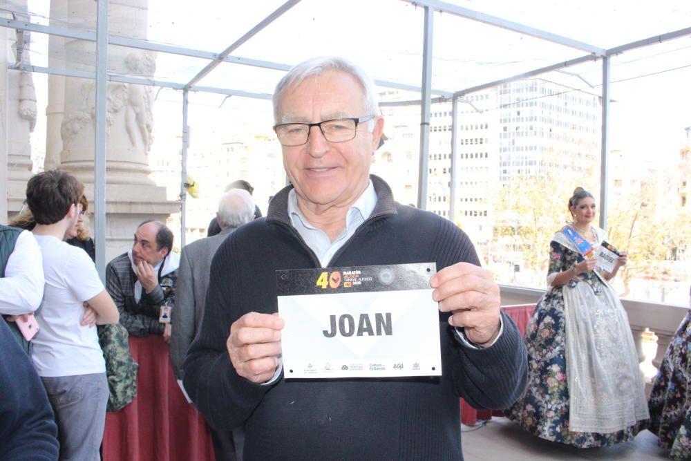 El alcalde también tuvo su dorsal. Joan Ribó fue campeón universitario de lanzamientos de disco y peso