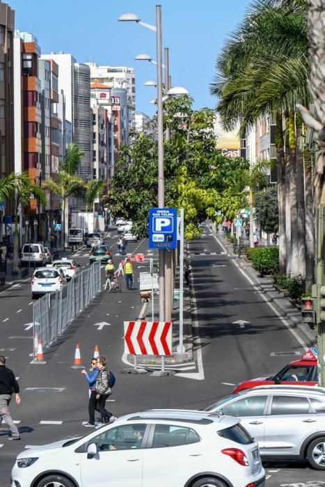 Obras de la MetroGuagua en la calle Venegas