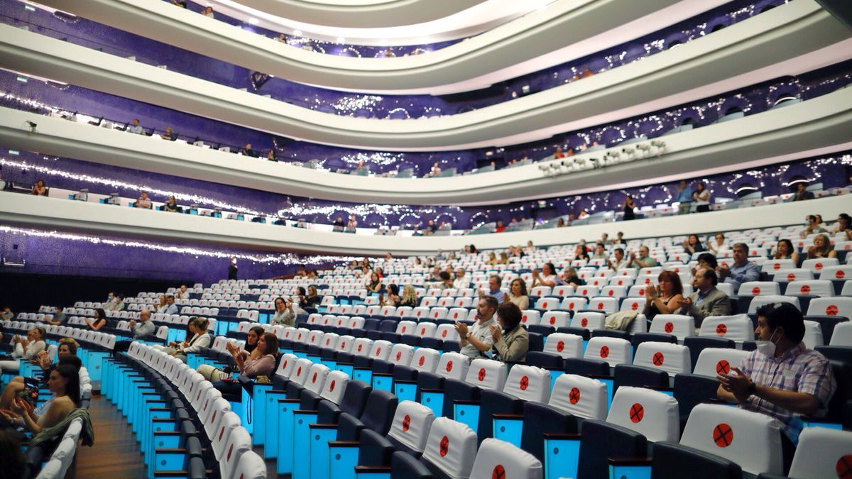 La Sala Principal del Palau de les Arts durante un concierto en pandemia.