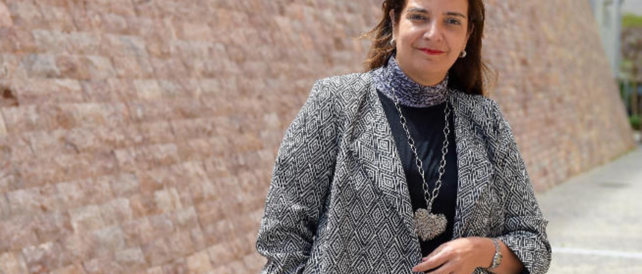 Agueda Borges, abogada de la cadena Riu, ayer en Las Palmas de Gran Canaria.