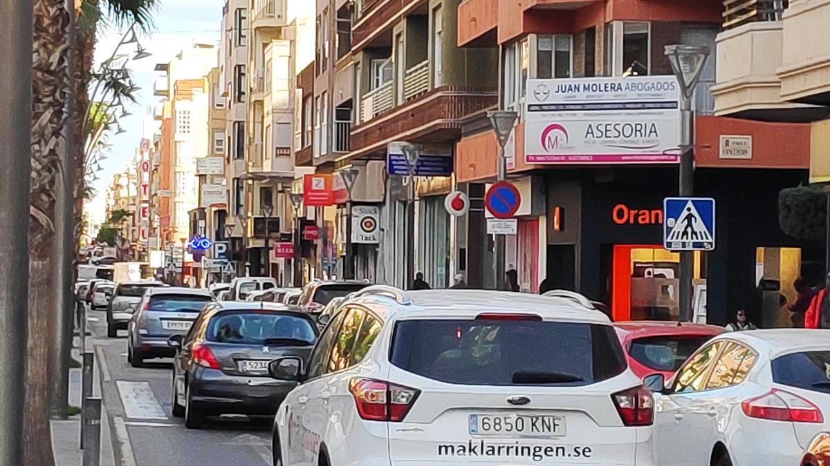 Imagen de archivo de la calle Ramón Gallud de Torrevieja en una imagen de archivo