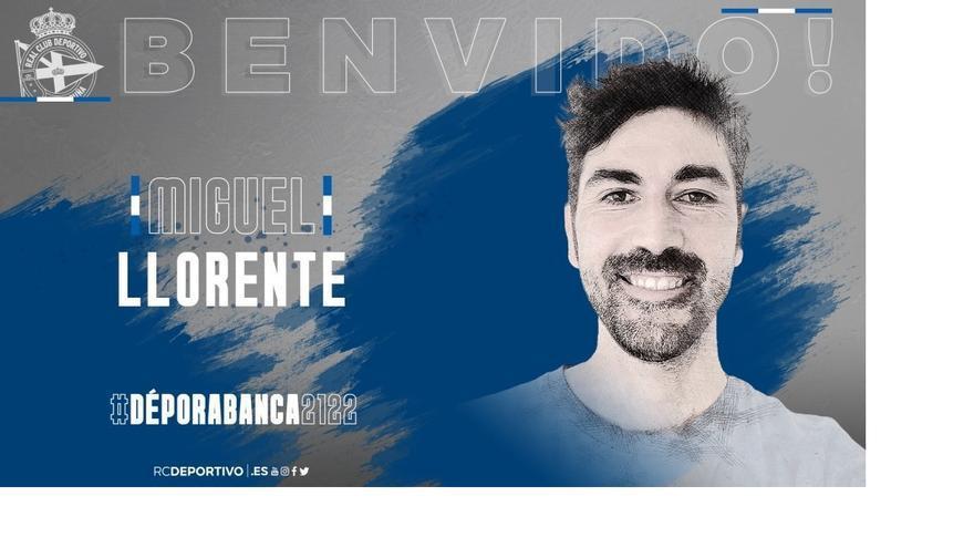 El madrileño Miguel Llorente, relevo de Manu Sánchez en el Dépor Abanca