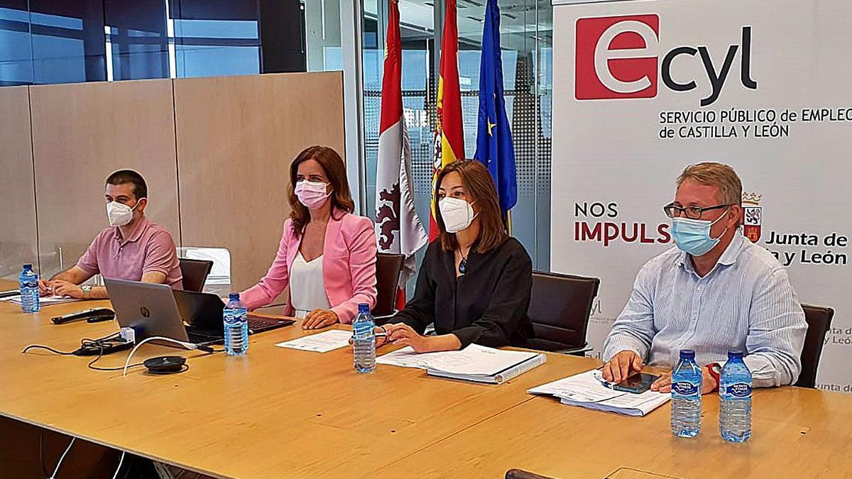 La consejera de Empleo, Ana Carlota Amigo durante la  LXXX Conferencia Sectorial de Empleo y Asuntos Laborales, presidida por la ministra de Trabajo, Yolanda Díaz | Ical