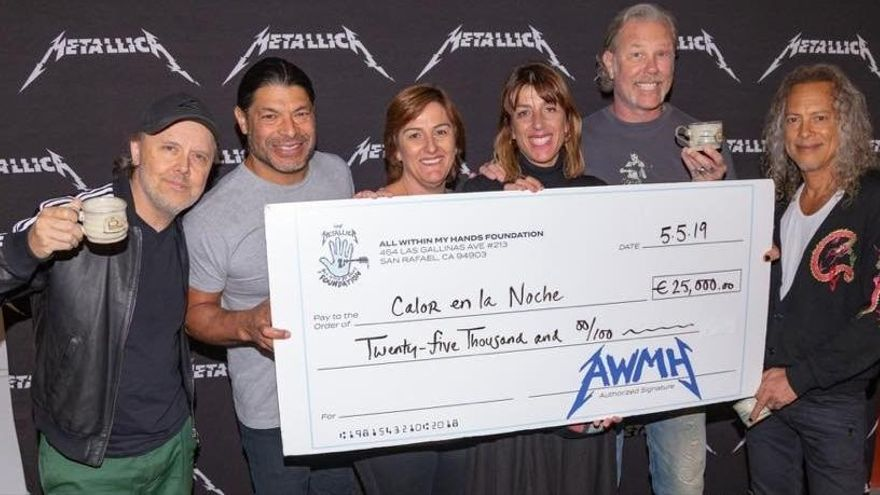 Metallica donan 118.000 euros a organizaciones benéficas españolas