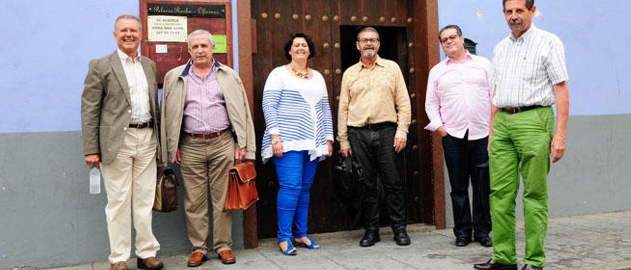 Marino Alduán, Juan Sánchez, Celeste López, Gregorio Viera, Juan Pablo Rodríguez y Luis Betancor