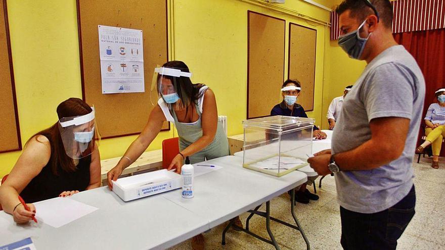 Simulacro electoral en Marín