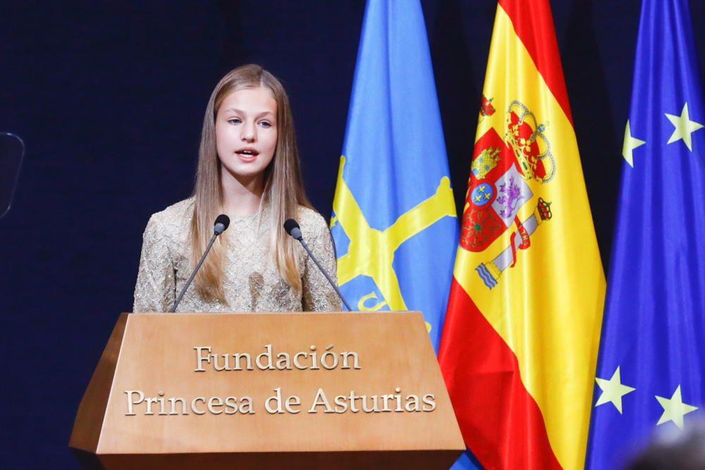 La Princesa Leonor durante su discurso.