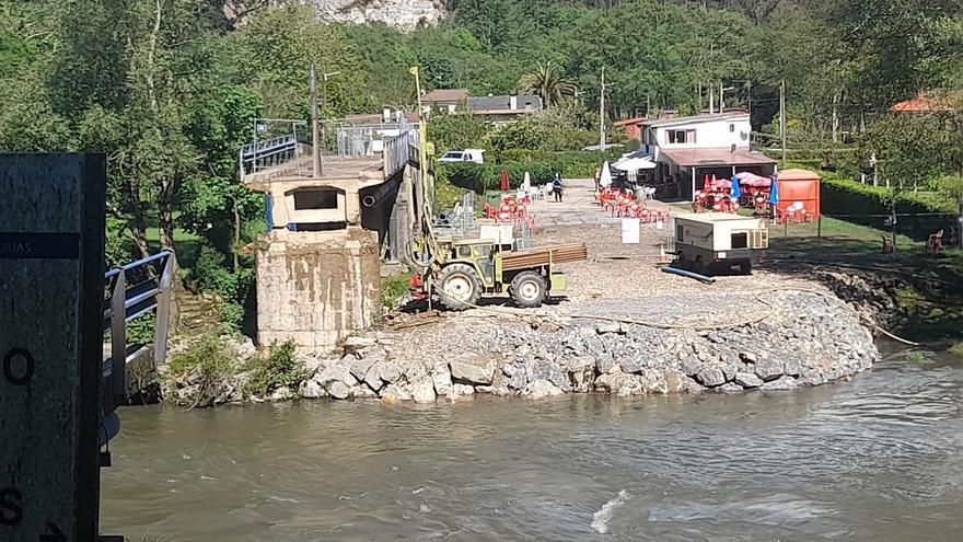 La obra del puente de Quinzanas vuelve a tener actividad