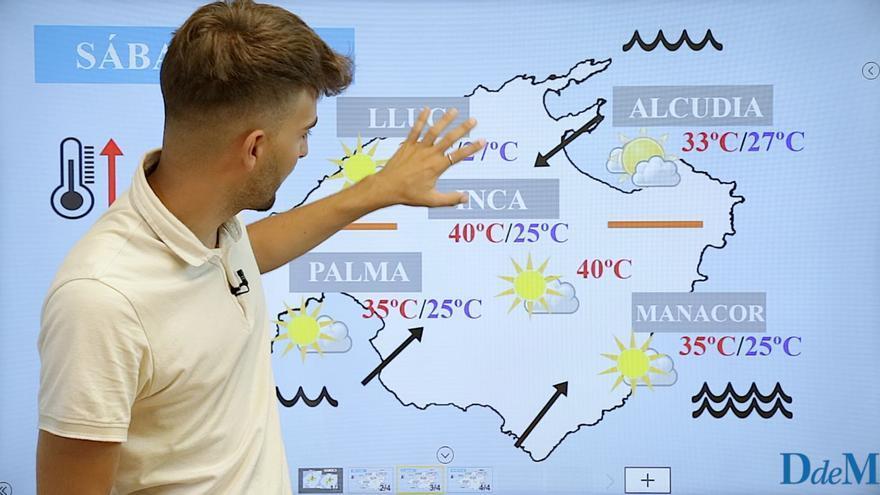 El tiempo del fin de semana en Mallorca: El mercurio podría llegar a los 40°C en Mallorca