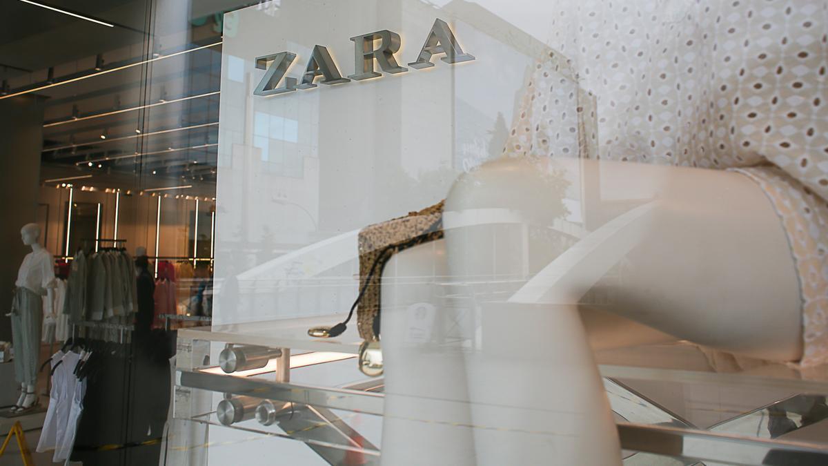 Una tienda de Zara en el centro de Madrid.