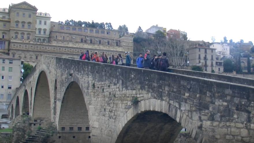 Alumnes del Pius organitzen una ruta de descoberta dels ponts de Manresa
