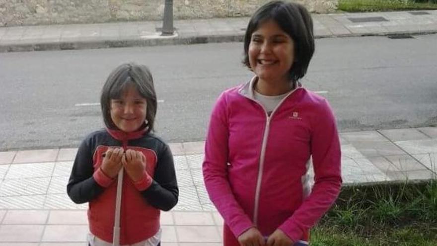 Sara y Amets, en una foto tomada su madre.