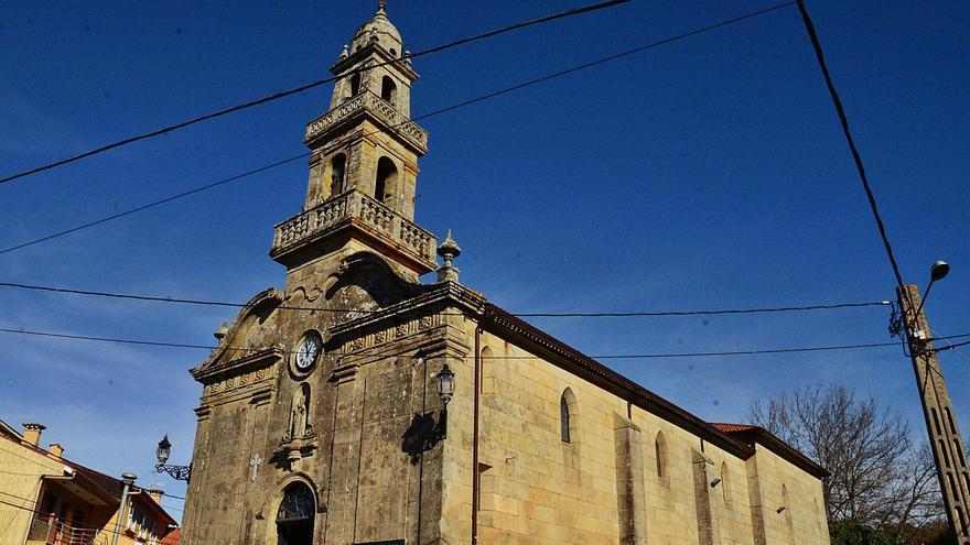 A reforma da fachada da igrexa de Aldán en 1670
