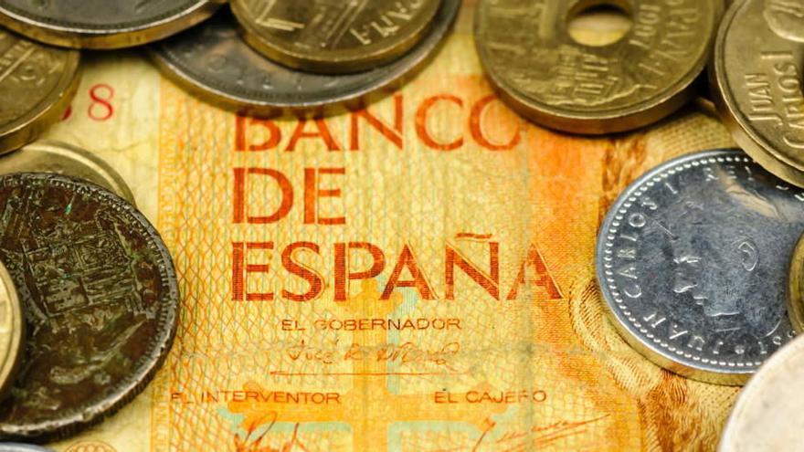 Los españoles guardan 1.596 millones de euros en pesetas