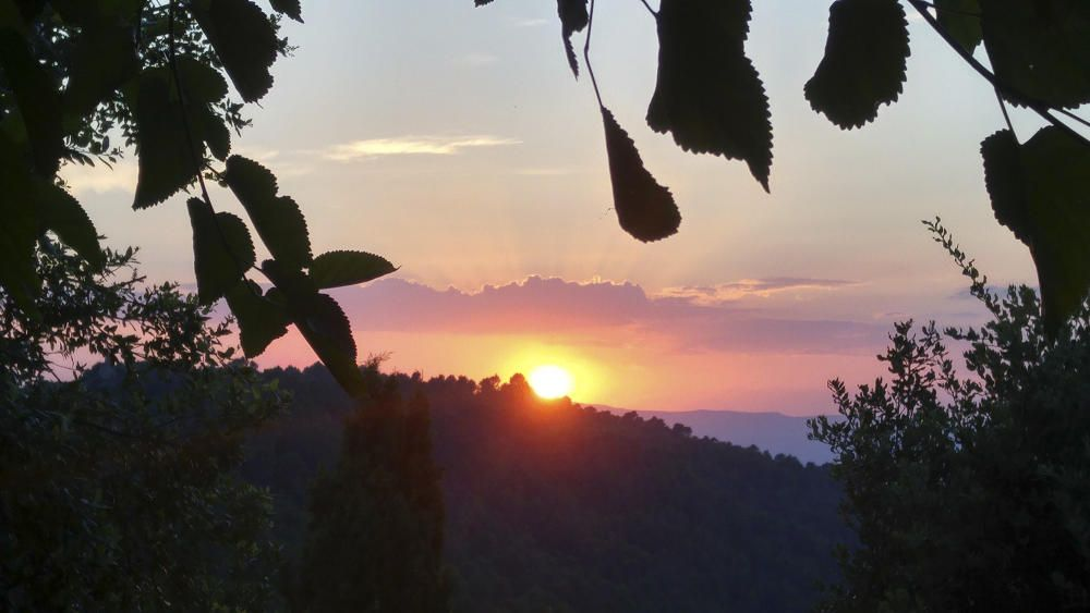 Bonica posta de sol des de Rocafort.