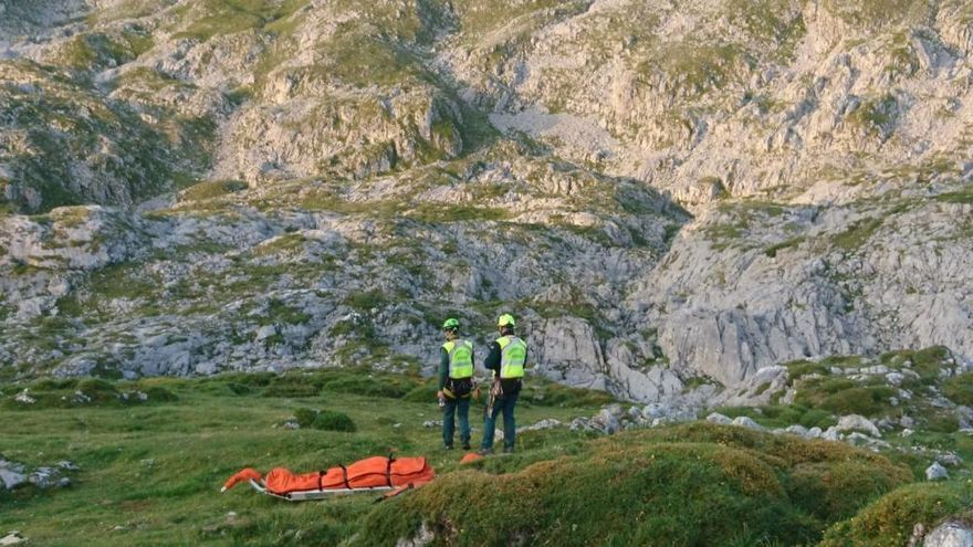 Fallece en los Picos de Europa Santiago Prieto, presidente del grupo de montaña San Bernardo de Turón