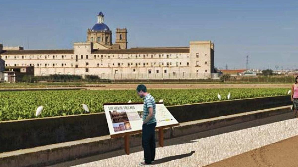 Dos itinerarios paisajísticos peatonales dignificarán San Miguel de los Reyes | A.V.