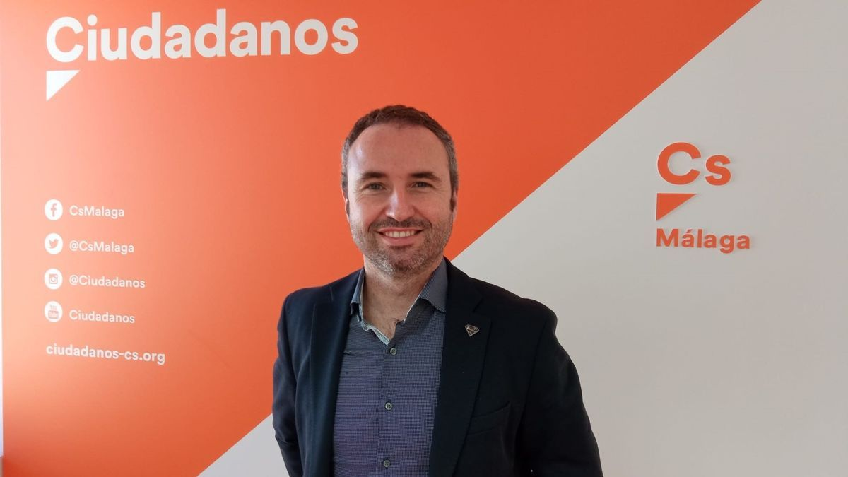 El responsable de Comunicación de Cs Andalucía, Guillermo Díaz, en una imagen de archivo