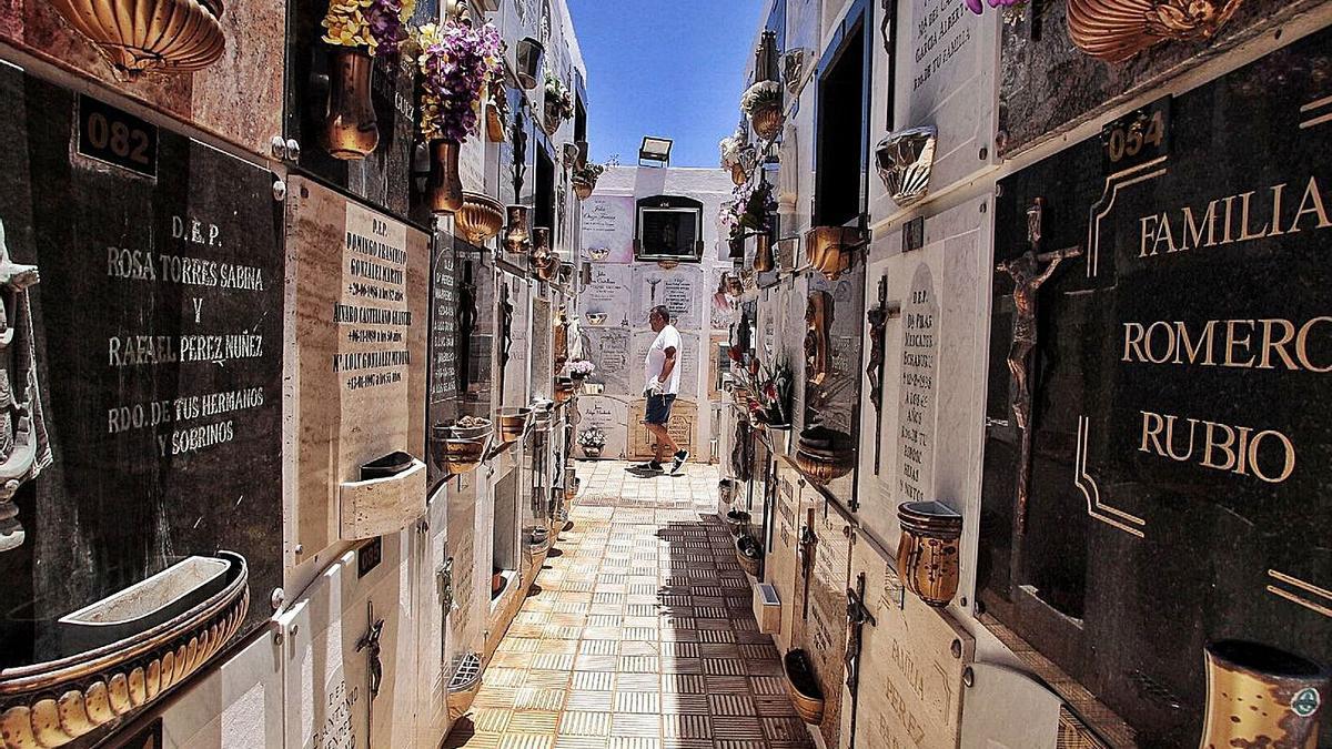 Imagen de archivo del cementerio de Candelaria tras su apertura después del confinamiento.     MARÍA PISACA