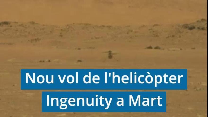 L'Ingenuity vola pel cel de Mart a 2 metres per segon
