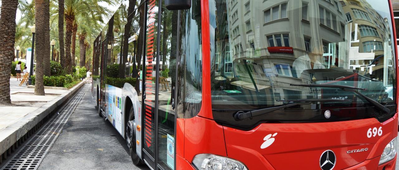Un autobús del servicio municipal de Alicante