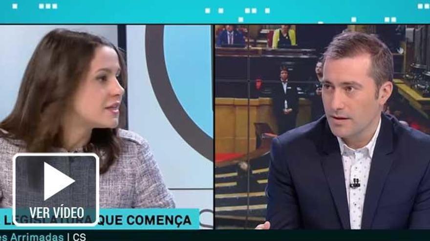 TV3 pregunta a Arrimadas por qué Cs no cantó 'Els Segadors'